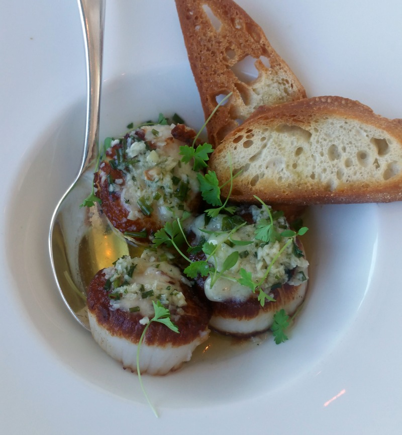 Seared Scallops at Iridescence Restaurant