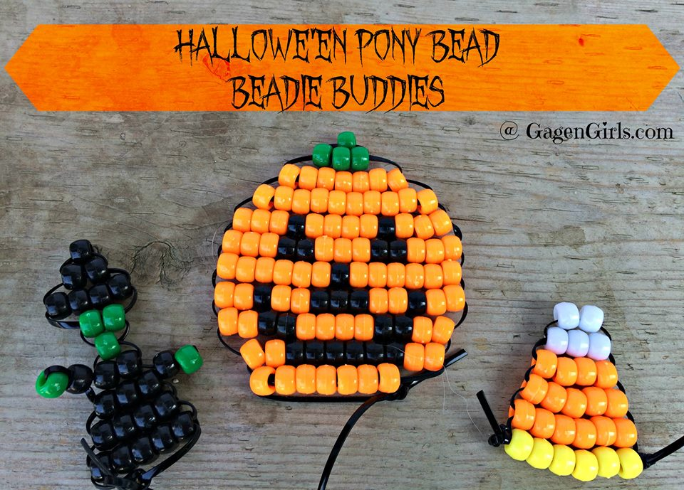 Halloween Pony Beads Beadie Buddies