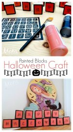 Halloween Kid's Craft: Painted Halloween Blocks – #12DaysofHalloween