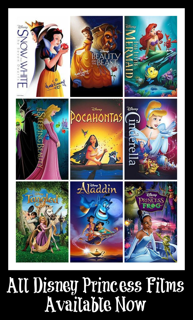 bring all disney princess films home today