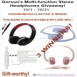 Gorsun's Multi-function Stereo Headphones Giveaway – Ends 10/31