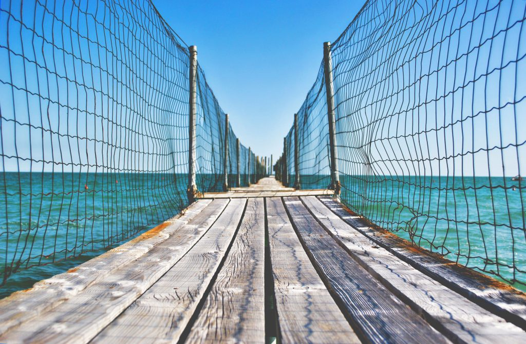 Set Boundaries - Deck with Fencing on the water