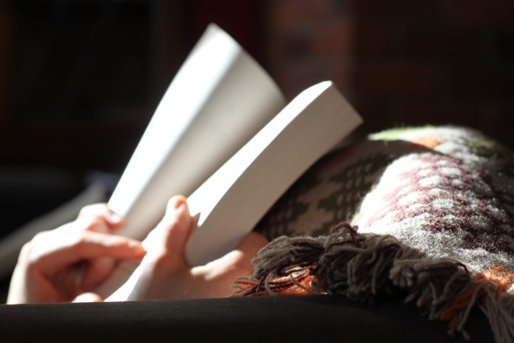 Reading a book - Take time for yourself