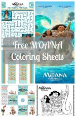 MOANA Coloring Sheets