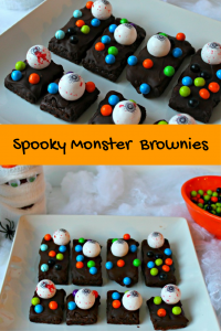 Spooky Monster Brownies