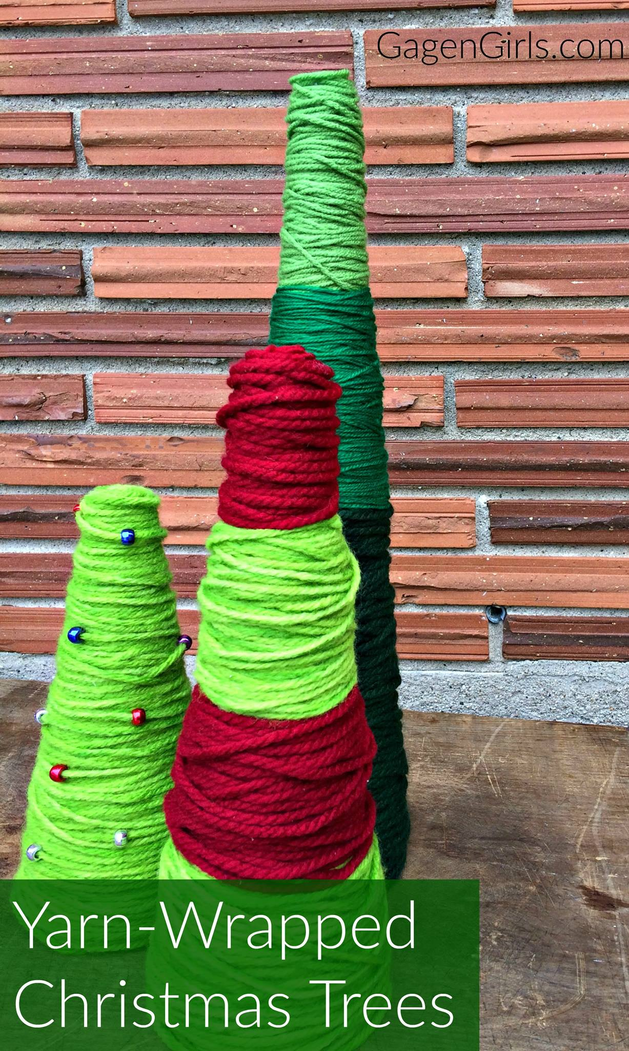 Yarn Wrapped Christmas Tree