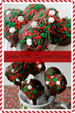Cookie Butter Stuffed Chocolate Covered Spoons – 30 Days of #ChristmasSweets
