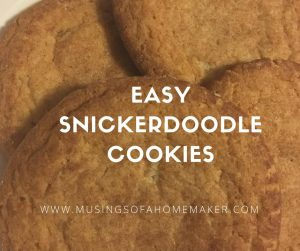 Easy Snickerdoodle Cookies – #12Daysof Christmas