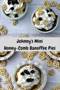 Johnny's Mini Honey-Comb Banoffee Pies —  #SingWithPost #CerealAnytime