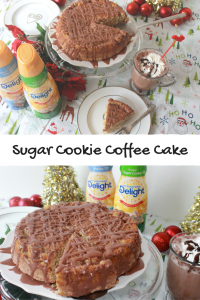 Sugar Cookie Coffee Cake with Caramel Mocha Glaze