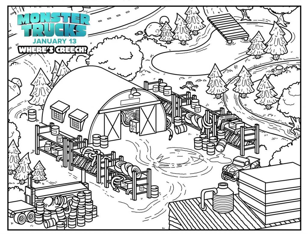 Monster Trucks Activity Sheets Image