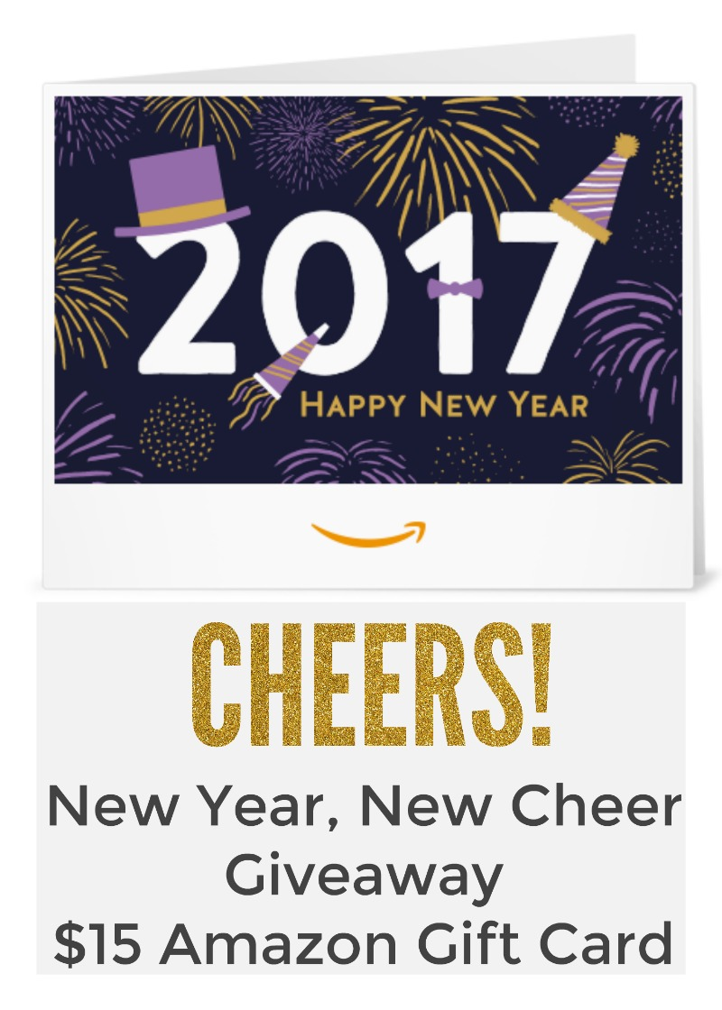 $15 Amazon Gift Card Giveaway - New Year, New Cheer Giveaway Hop ...