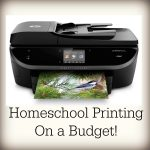Homeschool Printing on a Budget