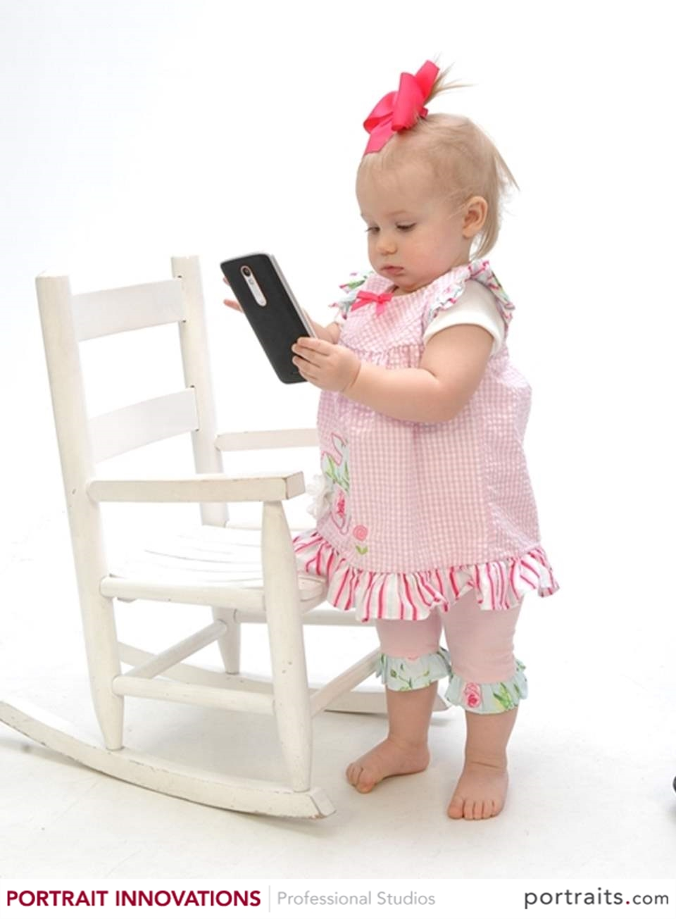 Baby Girl and Cell Phone