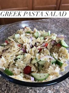 Greek Pasta Salad – #12DaysofPicnic