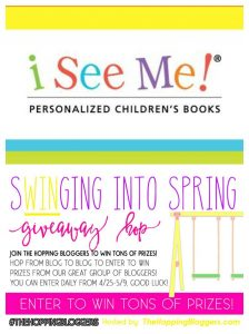 I See Me Personalized Book Giveaway – Swinging Into Spring Giveaway Hop