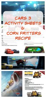 "CARS 3 ""Build Your Own Race Course"" Activity & Corn Fritters Recipe – #CARS3"