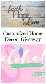 Customized Aluminum Home Decor Signs Giveaway