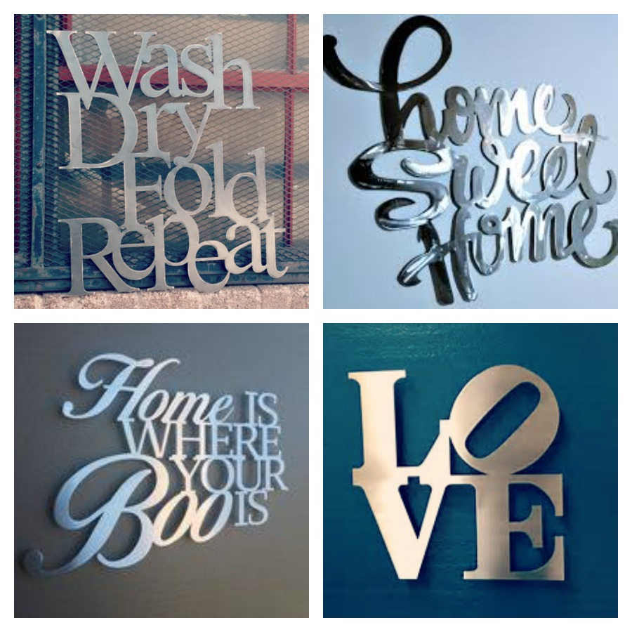 Decorative Signs For Your Home: Customized Aluminum Home Decor Signs Giveaway