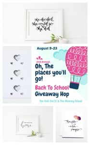 August Oh, The Places You Will Go Giveaway Hop