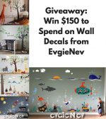 Evgie Wall Decals Giveaway August 2017 – #Evgie