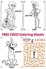 Pixar COCO Coloring Sheets – #PixarCocoEvent