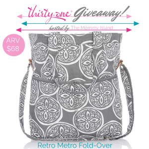 Thirty-One Retro Metro Fold-Over Giveaway