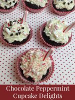 Chocolate Peppermint Cupcakes – 30 Days of #ChristmasSweets
