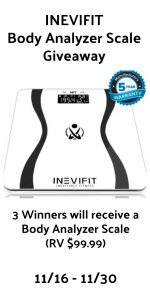 INEVIFIT Body Analyzer Scale Giveaway (3 Winners)