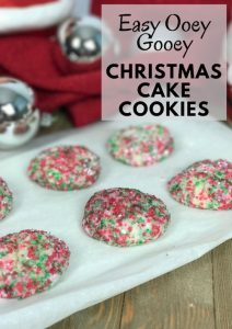 Easy Ooey Gooey Christmas Cake Cookies – 30 Days of #ChristmasSweets