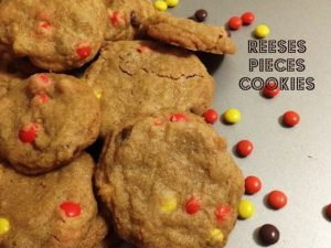 Reeses Pieces Cookies – 30 days of #ChristmasSweets