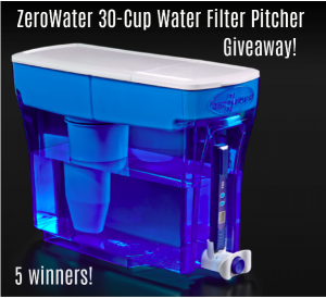 ZeroWater 30-Cup Water Filter Pitcher Giveaway