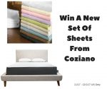 Coziano Sheets Giveaway – #Holiday2017