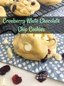 Cranberry White Chocolate Chip Cookies – 30 Days of #ChristmasSweets