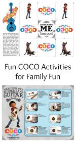 New COCO Activities for Family Fun – #PixarCocoEvent