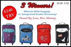 Obersee Kids Luggage w/ Integrated Cooler Giveaway
