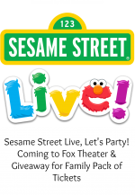 Sesame Street Live Coming to the Fox Theatre Detroit & Giveaway