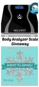 Body Analyzer Scale by INEVIFIT Giveaway – Jeeper's It's January Giveaway Hop