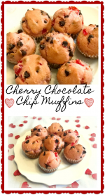 Cherry Chocolate Chip Muffins – #ValentinesSweets