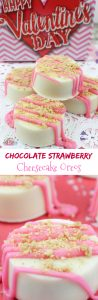 Chocolate Strawberry Cheesecake Oreos – #ValentinesSweets