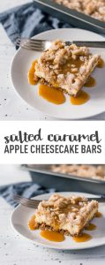 Salted Caramel Apple Cheesecake Bars- #ValentinesSweets
