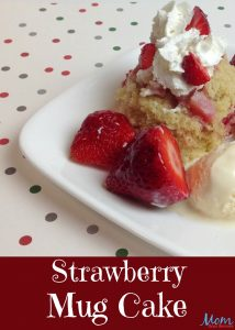 Strawberry Mug Cake – #ValentinesSweets