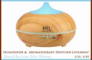 Humidifier & Aromatherapy Diffuser Giveaway
