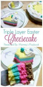 Triple Layer Easter Cheesecake – #EasterSweetsandTreats