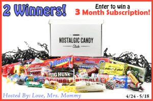 Nostalgic Candy Club Subscription Giveaway – Ends 5/18