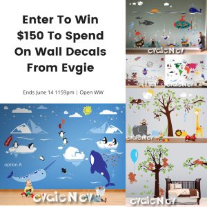 Evgie Wall Decals Giveaway – Ends 6/14