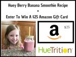 Huey Berry Banana Smoothie Recipe + $25 Amazon Gift Card Giveaway!
