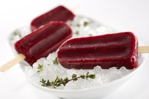 Hibiscus Blueberry Popsicles