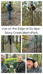 Live on the Edge at Go Ape- Stony Creek MetroPark