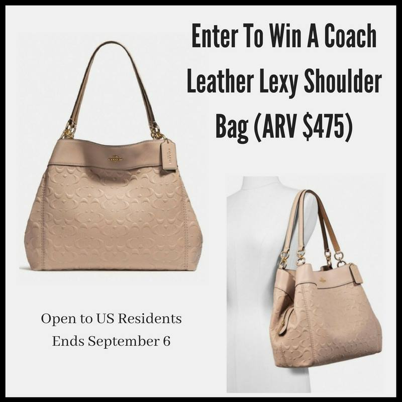 This gorgeous Coach Leather Lexy Shoulder Bag is going to go to one lucky  winner. My favorite thing about the Rose Gold color ... fafe8b8e8553e